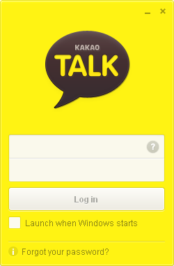 KakaoTalk PC Login View