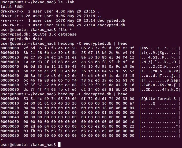 Encrypted DB vs Decrypted DB